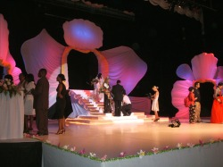 Beauty pageant stage decorations